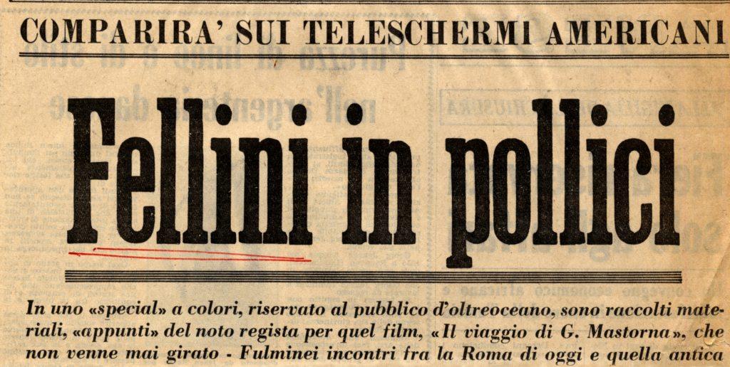 Fellini si racconta