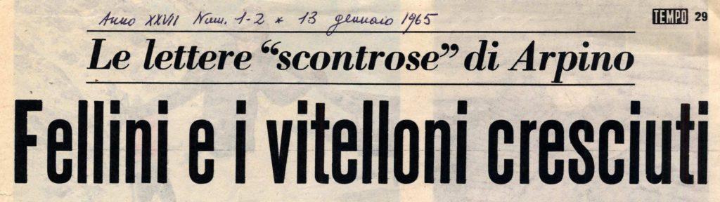 Giovanni Arpino immagina Fellini