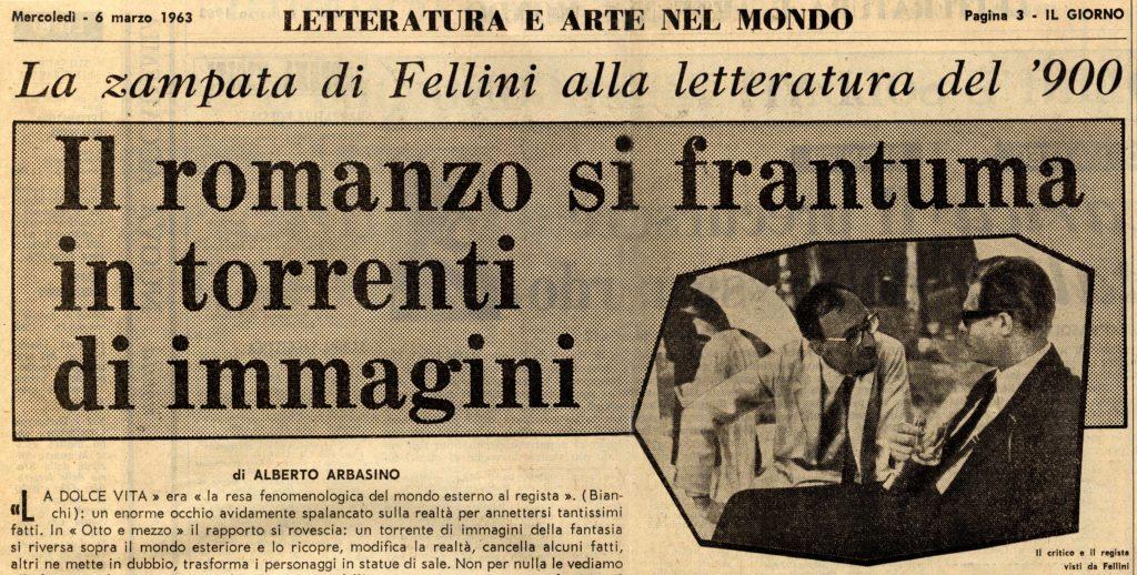 Alberto Arbasino e la zampata di Fellini
